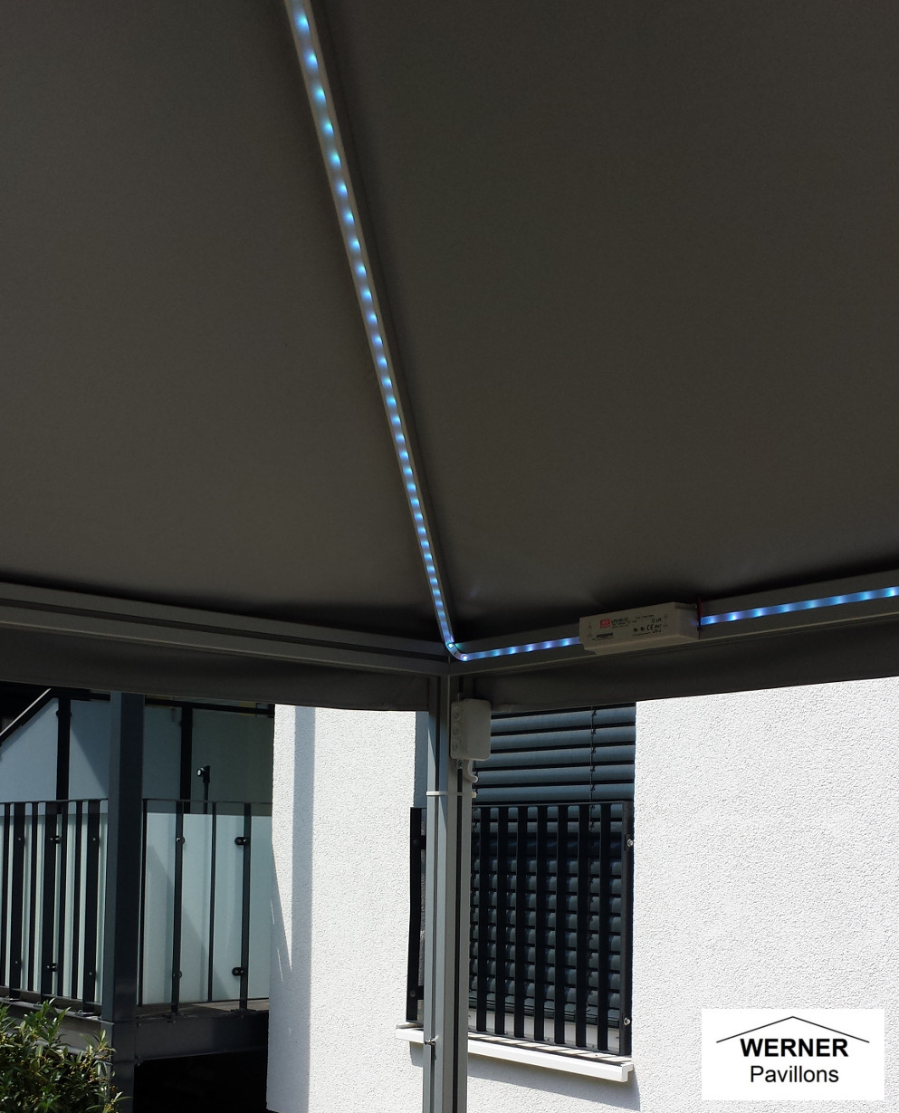 led beleuchtung der pavillon aus aluprofil mit 10 jahren garantie. Black Bedroom Furniture Sets. Home Design Ideas